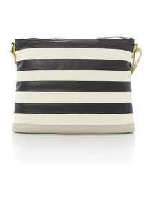 Putney black large ziptop cross body