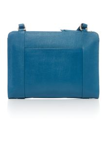 Radley Clerkenwell blue medium ziptop cross body bag