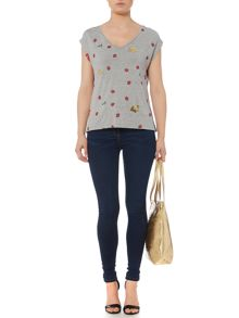 Biba Stevie blue wash super stretch skinny jean