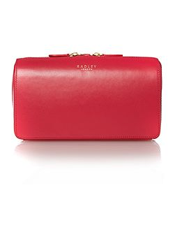 Dover street pink small ziptop clutch