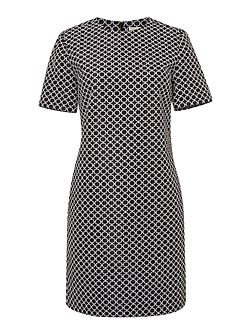 Michael Kors Short Sleeved Printed Shift Dress
