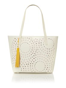 Radley De Beauvoir Ivory large ziptop tote