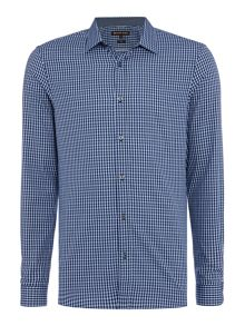 Michael Kors Vincent slim fit small check shirt