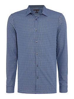 Vincent slim fit small check shirt