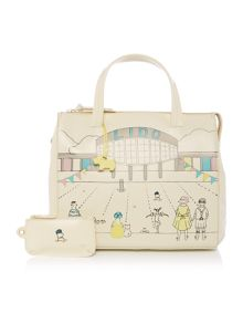 Radley Picture lido ivory medium ziptop tote bag