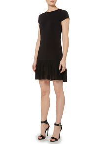Michael Kors Short Sleeved Pleated Hem Dress