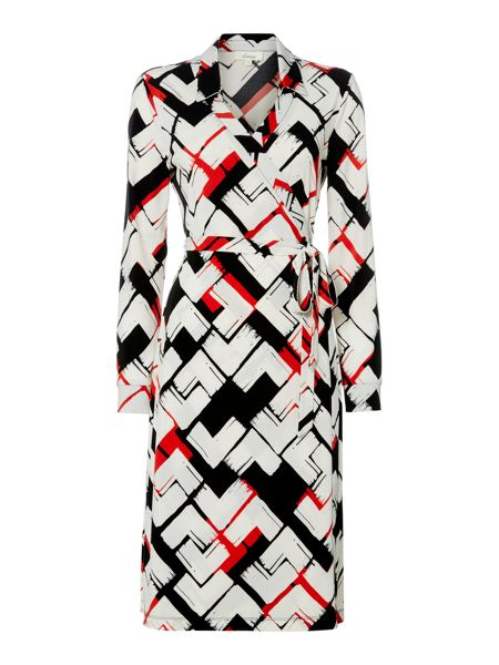 Linea Abstract geo print wrap dress