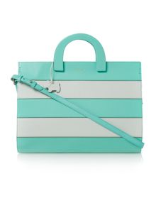 Radley Tooting Light Blue large ziptop tote