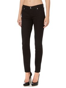 True Religion Casey low rise crystal skinny jean in black