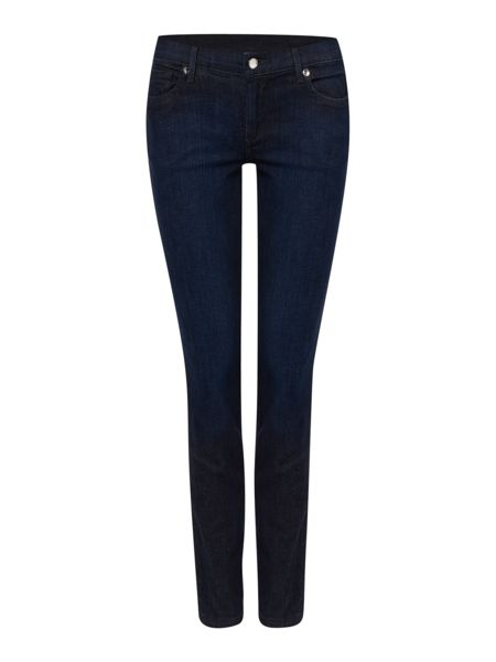True Religion Casey low rise crystal skinny jean in denim rinse