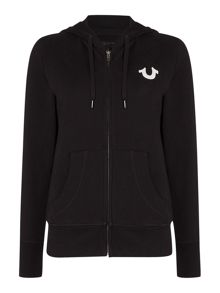 Crystal zip up hoody