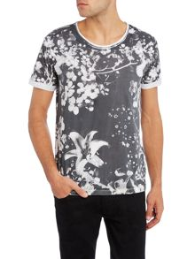 Replay Floral jersey T-shirt, round neck
