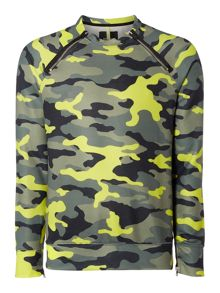 Replay Sweatshirt with camouflage print