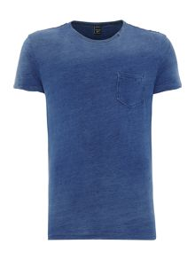 Replay Slim fit T-shirt slub mélange