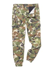 Replay Camouflage twill pants