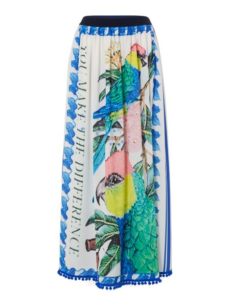 Replay Long skirt with multicolour print