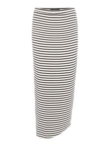Replay Long fitted striped skirt