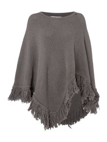 Replay Poncho with tassels