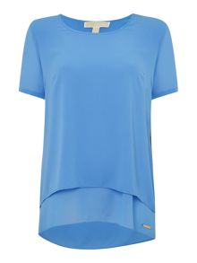 Michael Kors Short Sleeved Layered Back Top