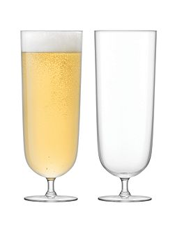 Olivia Lager Glass 450ml x 2