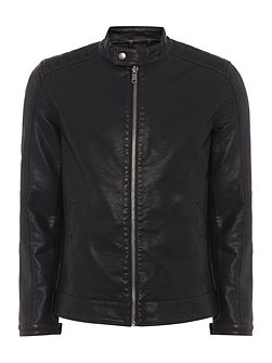 PU Zip Through Jacket