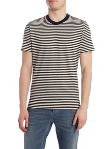 Paul Smith Jeans Regular fit crew neck mercerised stripe t shirt