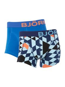 Bjorn Borg 2 pack of multi geo tiles and plain trunks