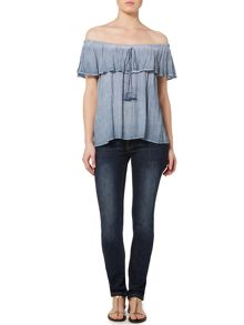 Linea Weekend Bardot washed blouse