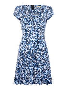Michael Kors Short Sleeved Printed Fit and Flare