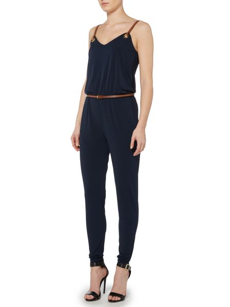 Michael Kors Leather Strapped Jumpsuit