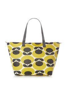 Giant oval yellow tote shoulder bag