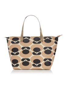 Orla Kiely Giant oval nude tote shoulder bag
