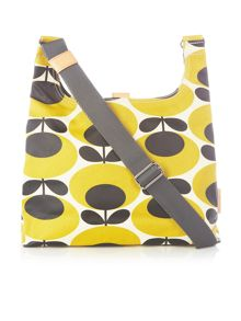 Giant oval yellow sling cross body bag