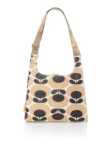 Orla Kiely Giant oval nude sling cross body bag