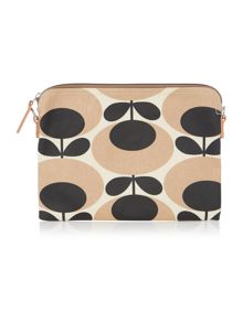 Giant oval nude travel pouchette