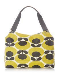 Orla Kiely Giant oval yellow zip shoulder bag