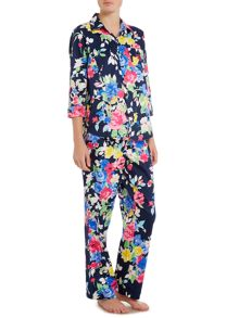 Lauren Ralph Lauren Short sleeve floral top and pant pajama set