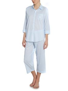 Lauren Ralph Lauren 3/4 Sleeve striped pyjama set