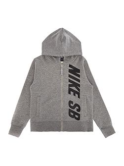 Boys Logo Zip Through Hooded Sweater