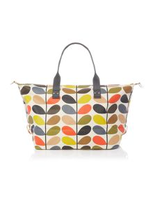 Orla Kiely Core stem multicolour zip holdall bag
