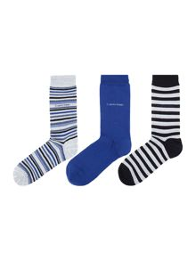 Calvin Klein 3 pack of stripe and plain socks