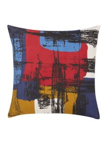 Linea Printed colour block cushion