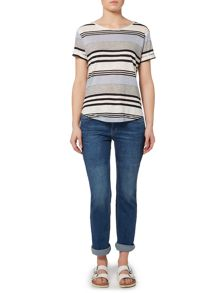 Linea Weekend Multi stripe tee