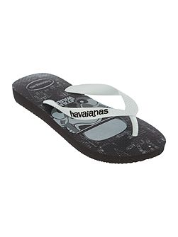 Boys Darth Vadar Star Wars print flip flop