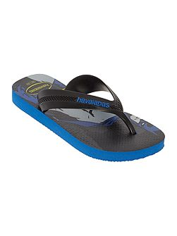 Boys Batman print flip flop