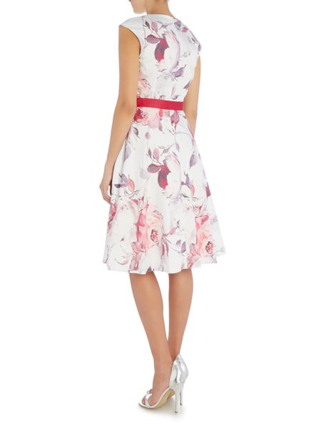 Ariella Fit and flare dress with tie waist
