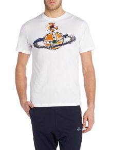 Vivienne Westwood Regular fit crew neck hand drawn orb t-shirt