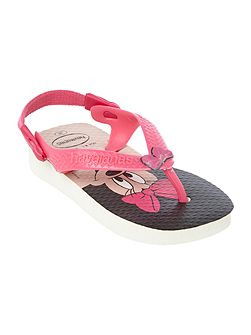 Girls Minnie mouse print flip flop