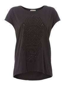 Label Lab Cutwork print tee