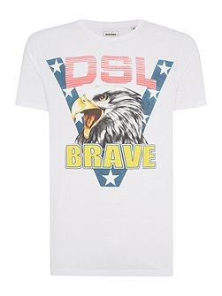 T-Joe regular fit brave eagle t shirt